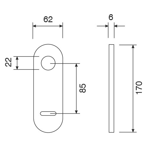 Plate handle double bit key hole sections